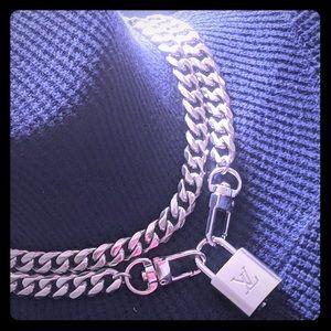 Authentic Louis Vuitton Silvertone Necklace